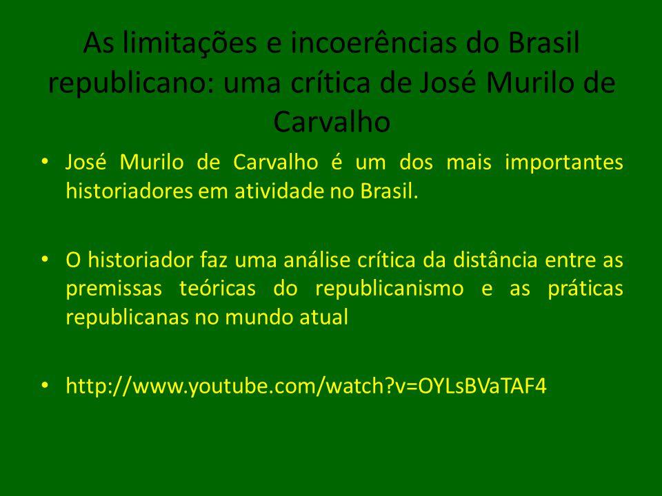 As limitações e incoerências do Brasil republicano: uma crítica de José Murilo de Carvalho