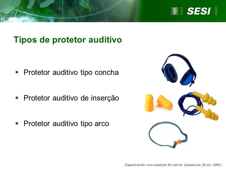 Tipos de protetor auditivo