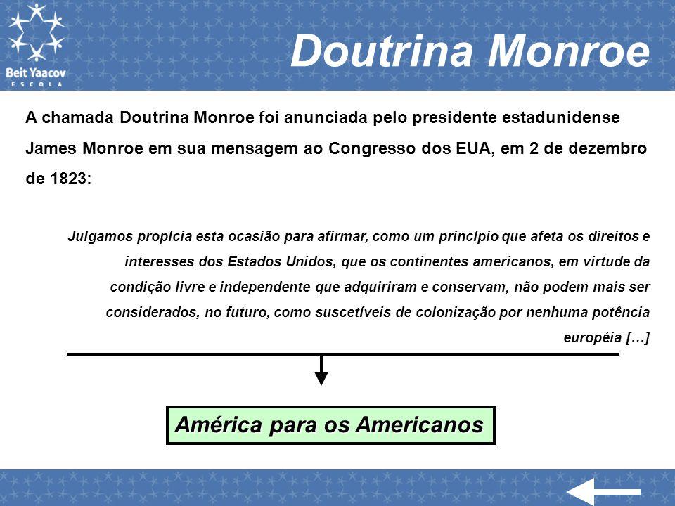 Doutrina Monroe América para os Americanos