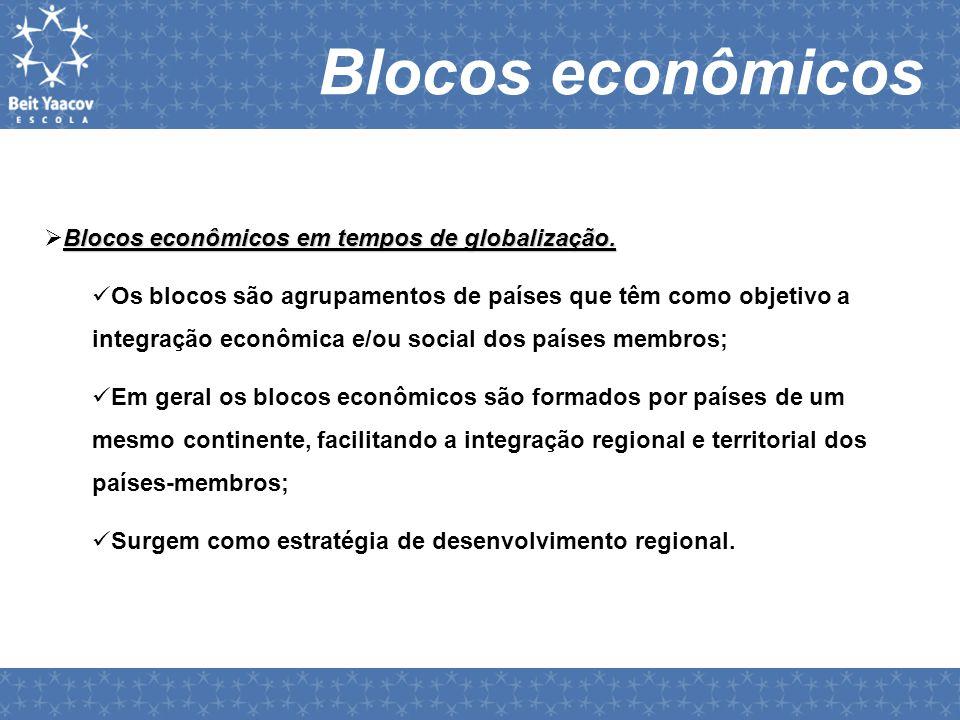 Blocos econômicos Blocos econômicos em tempos de globalização.