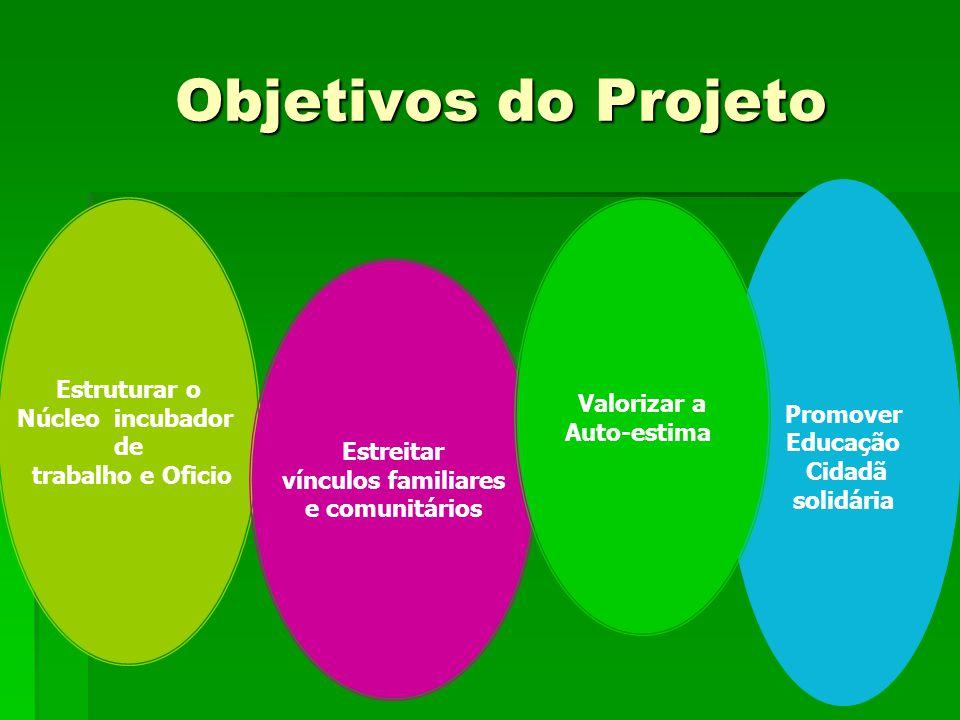 Objetivos do Projeto Estruturar o Promover Valorizar a