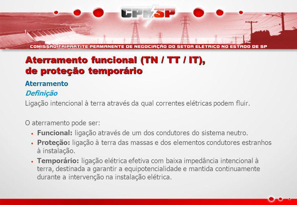 Aterramento funcional (TN / TT / IT), de proteção temporário