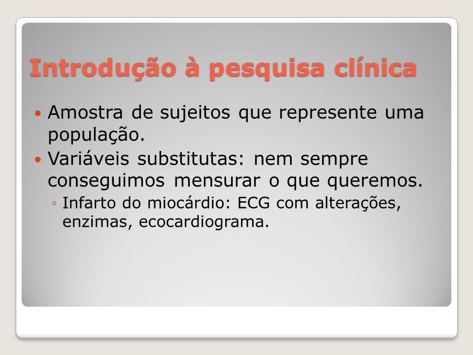 Introdução à pesquisa clínica