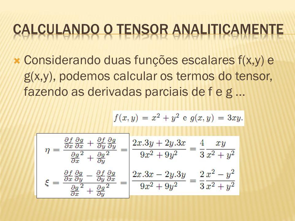 Calculando o tensor analiticamente