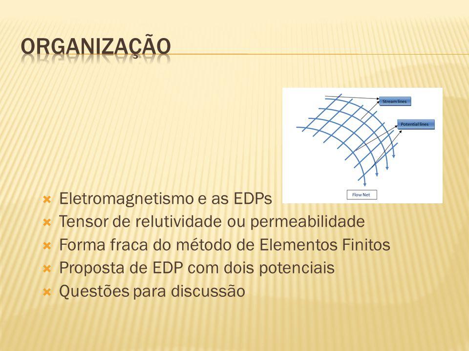 Organização Eletromagnetismo e as EDPs