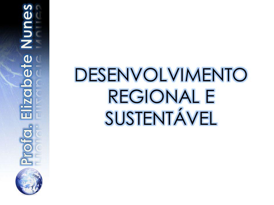 DESENVOLVIMENTO REGIONAL E SUSTENTÁVEL