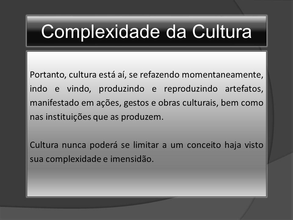 Complexidade da Cultura