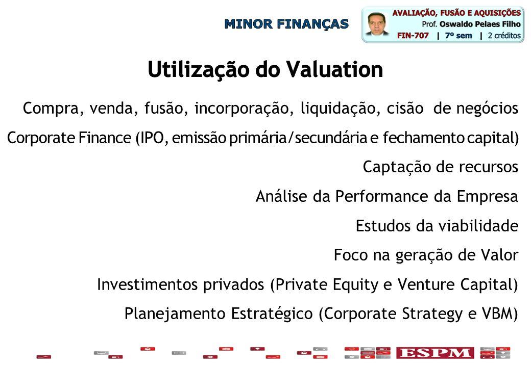 Utilização do Valuation