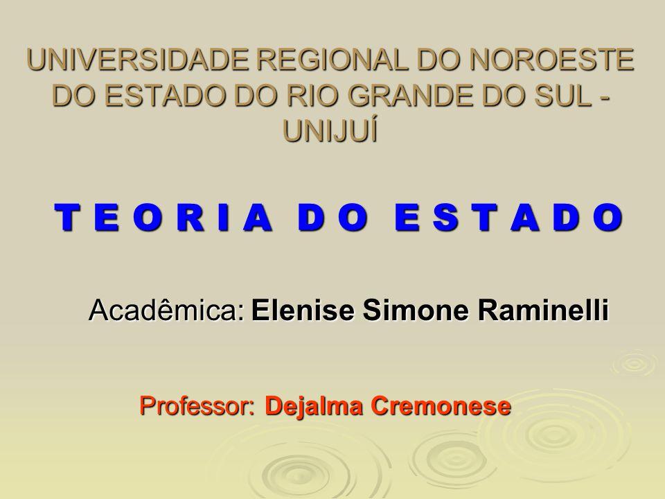 Acadêmica: Elenise Simone Raminelli