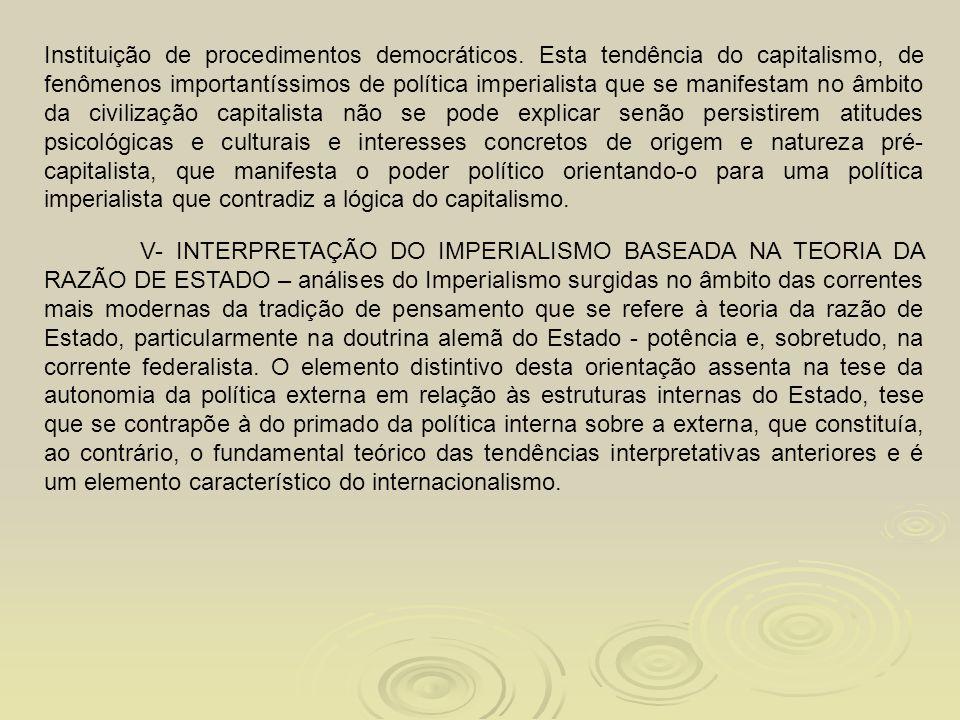 Instituição de procedimentos democráticos