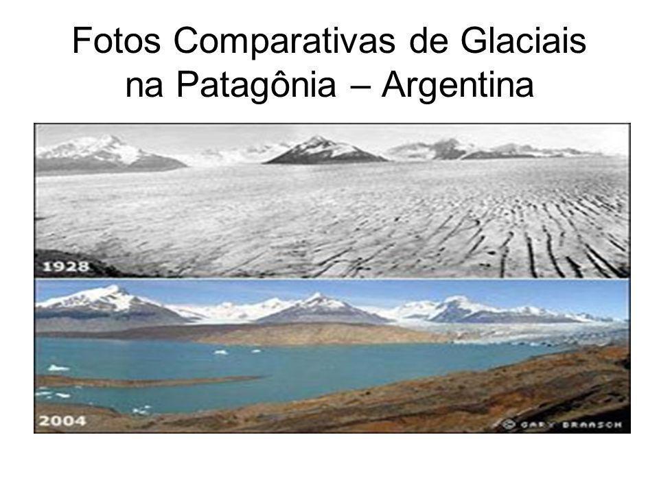 Fotos Comparativas de Glaciais na Patagônia – Argentina