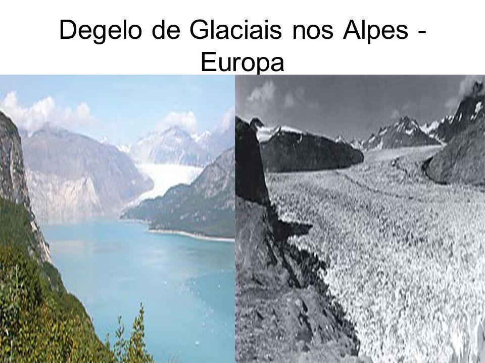 Degelo de Glaciais nos Alpes - Europa