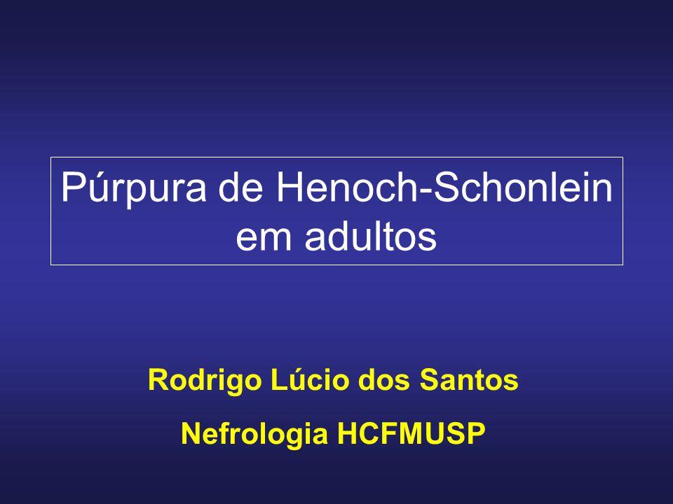 Púrpura de Henoch-Schonlein em adultos