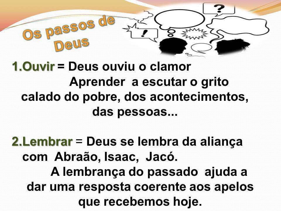 Os passos de Deus Ouvir = Deus ouviu o clamor