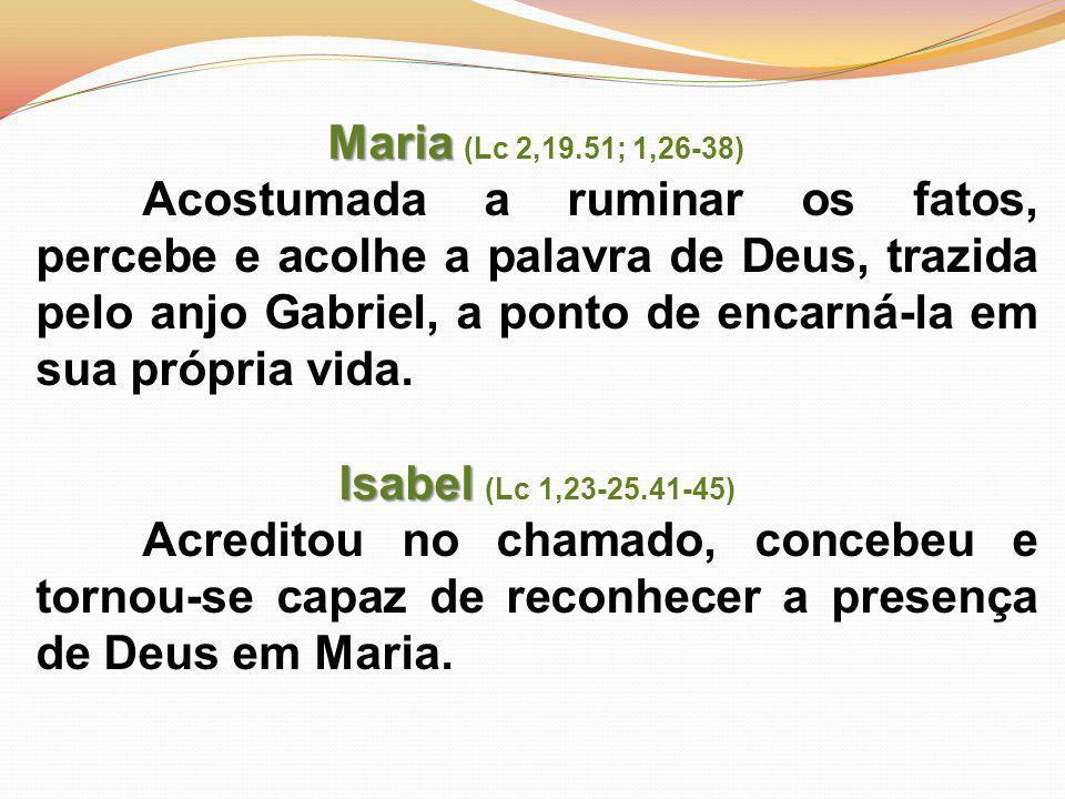 Maria (Lc 2,19.51; 1,26-38)