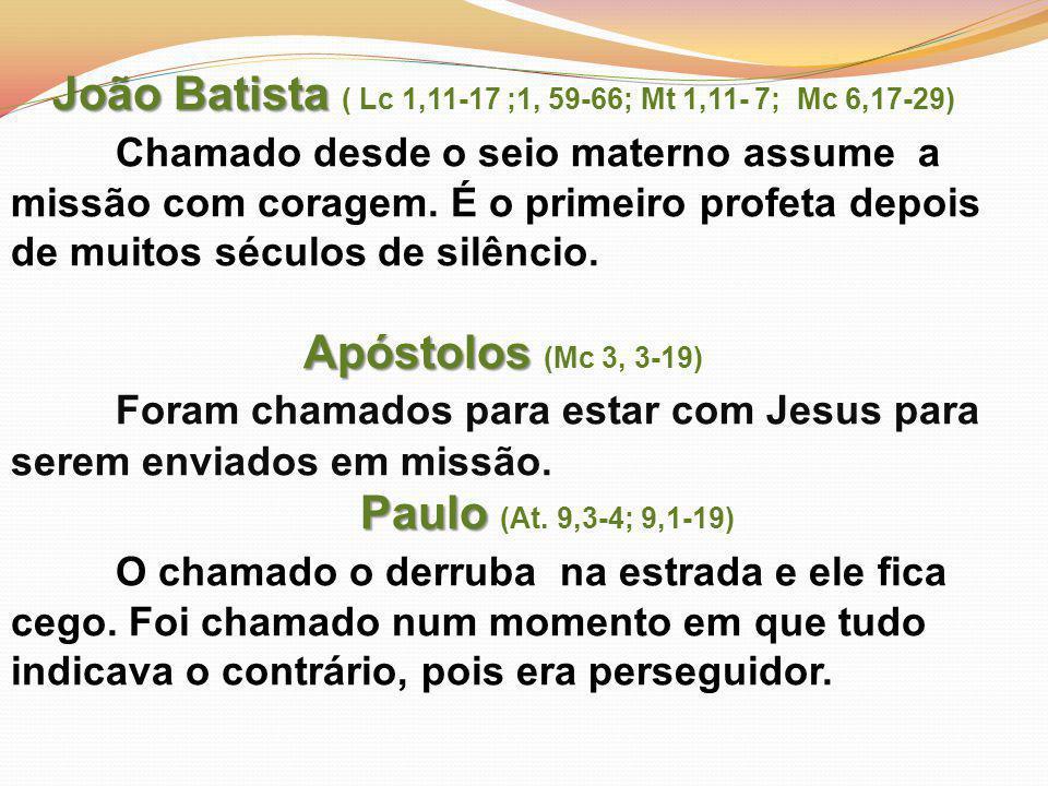 João Batista ( Lc 1,11-17 ;1, 59-66; Mt 1,11- 7; Mc 6,17-29)