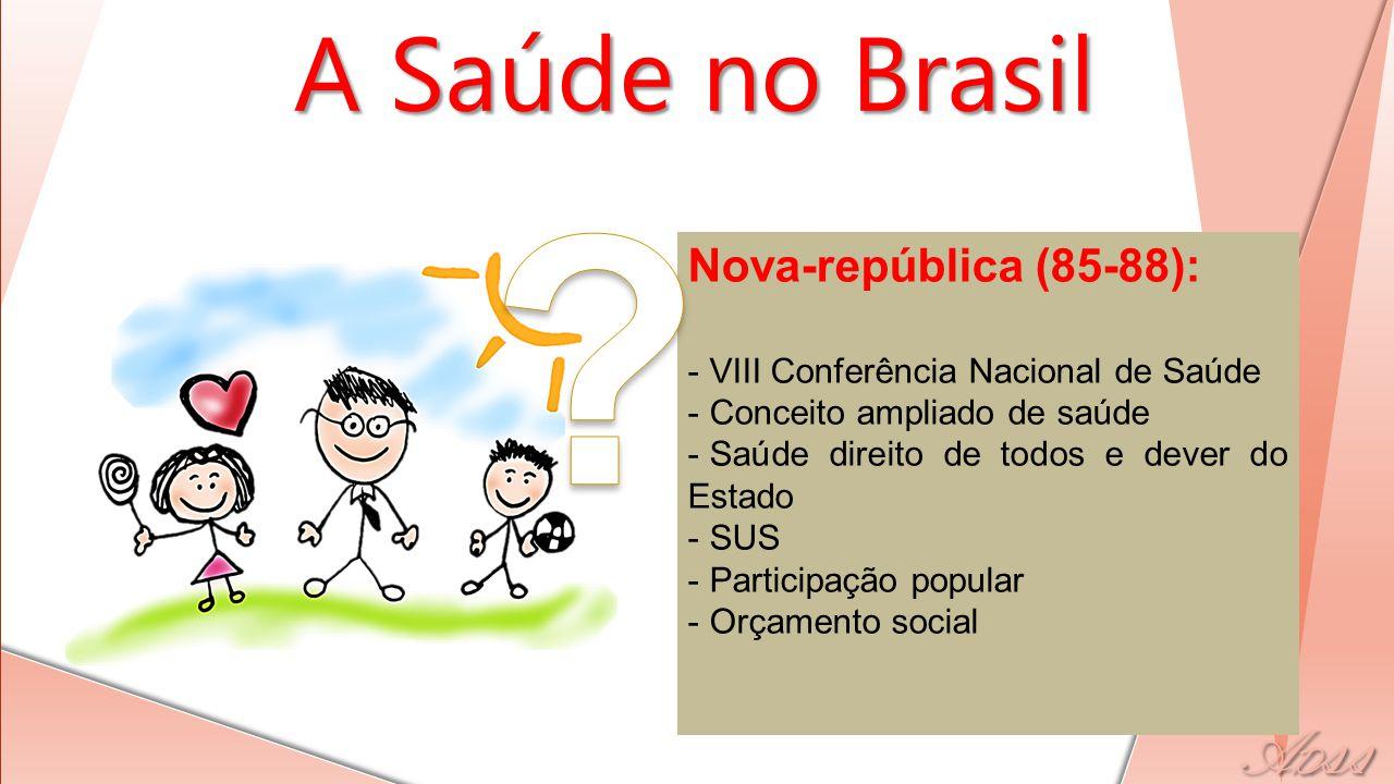A Saúde no Brasil Nova-república (85-88):