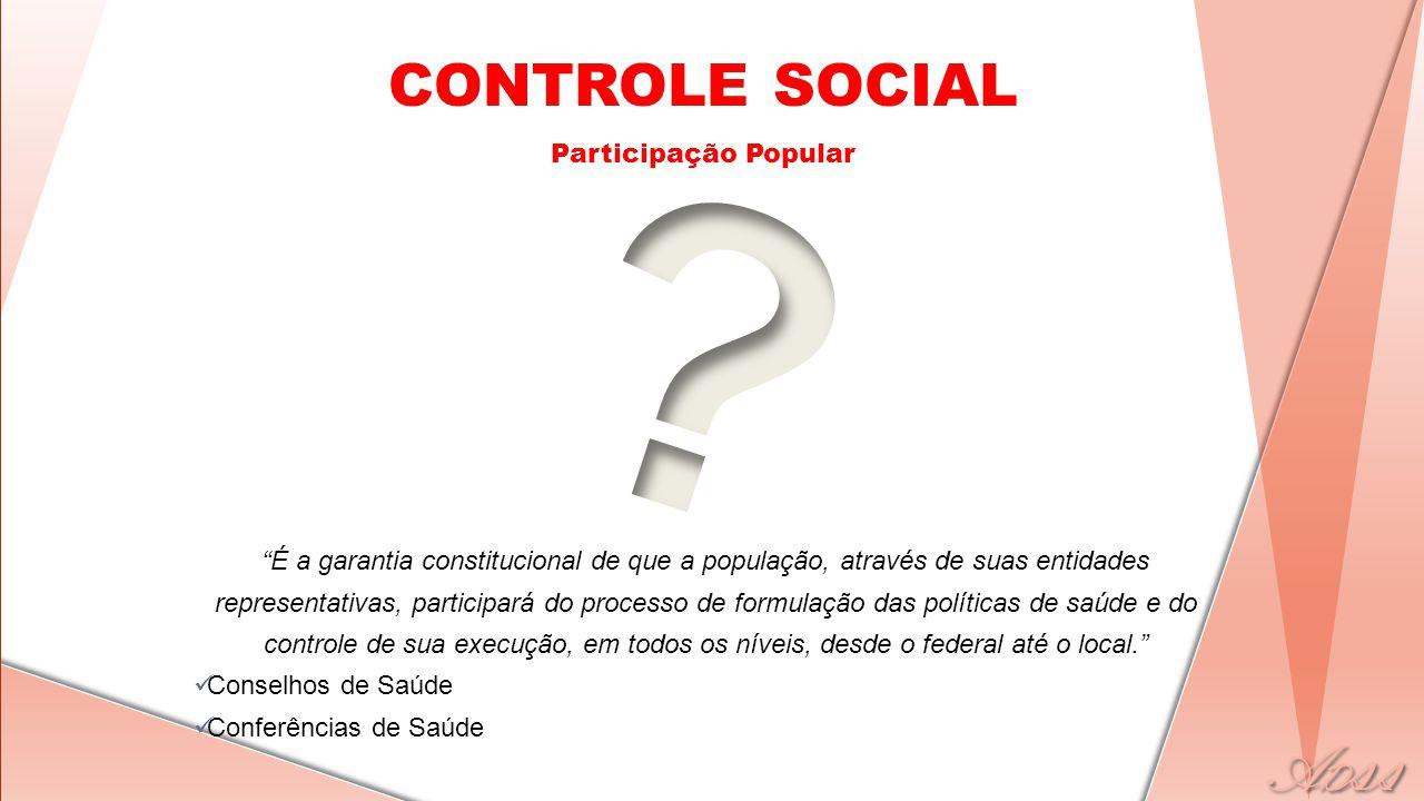 CONTROLE SOCIAL Participação Popular