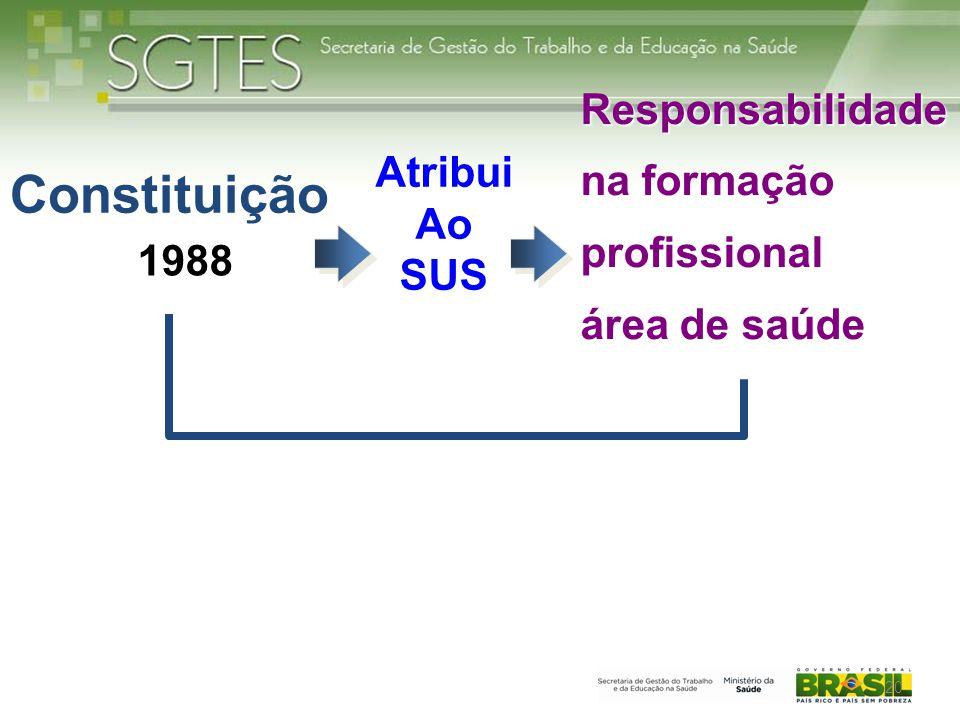 Constituição Responsabilidade na formação profissional Atribui Ao