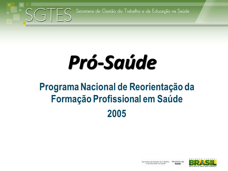Programa Nacional de Reorientação da Formação Profissional em Saúde