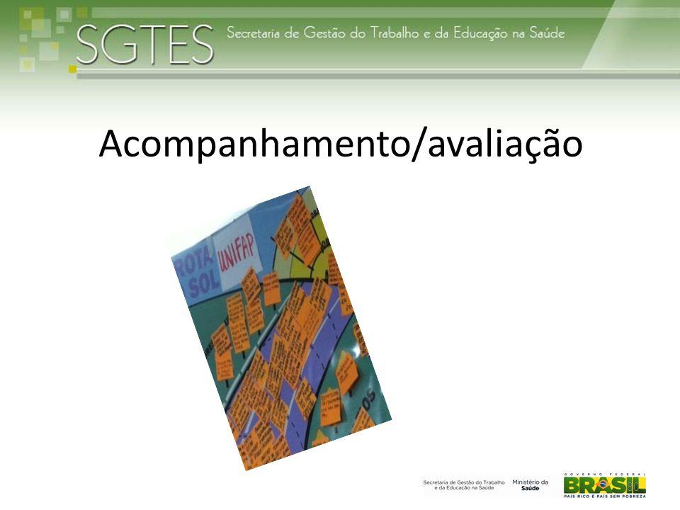 Acompanhamento/avaliação