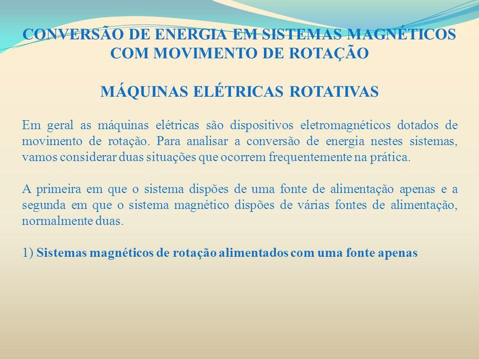 CONVERSÃO DE ENERGIA EM SISTEMAS MAGNÉTICOS COM MOVIMENTO DE ROTAÇÃO