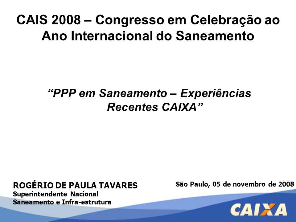CAIS 2008 – Congresso em Celebração ao Ano Internacional do Saneamento