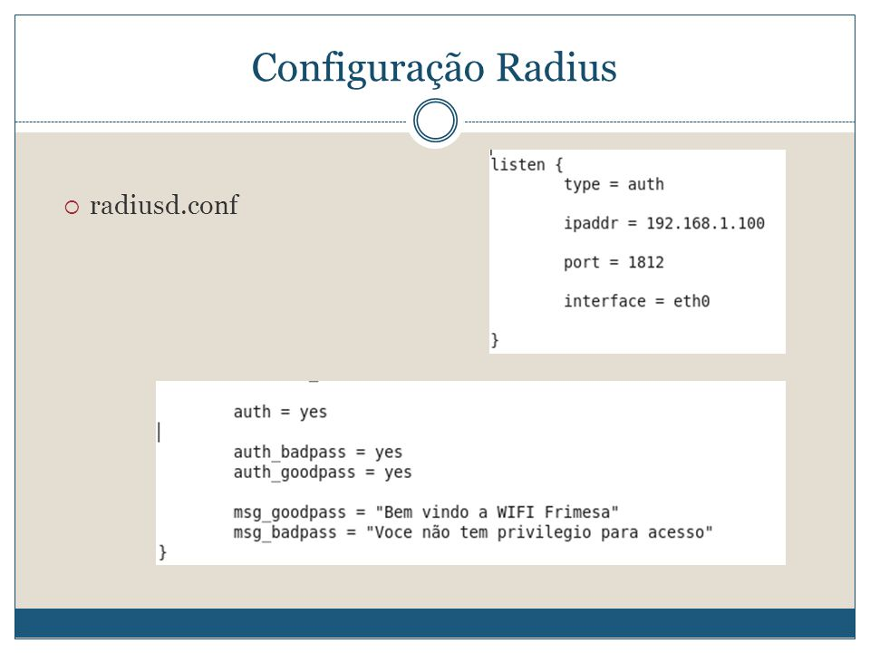 Configuração Radius radiusd.conf