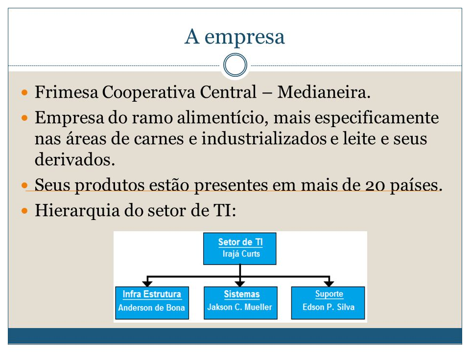 A empresa Frimesa Cooperativa Central – Medianeira.