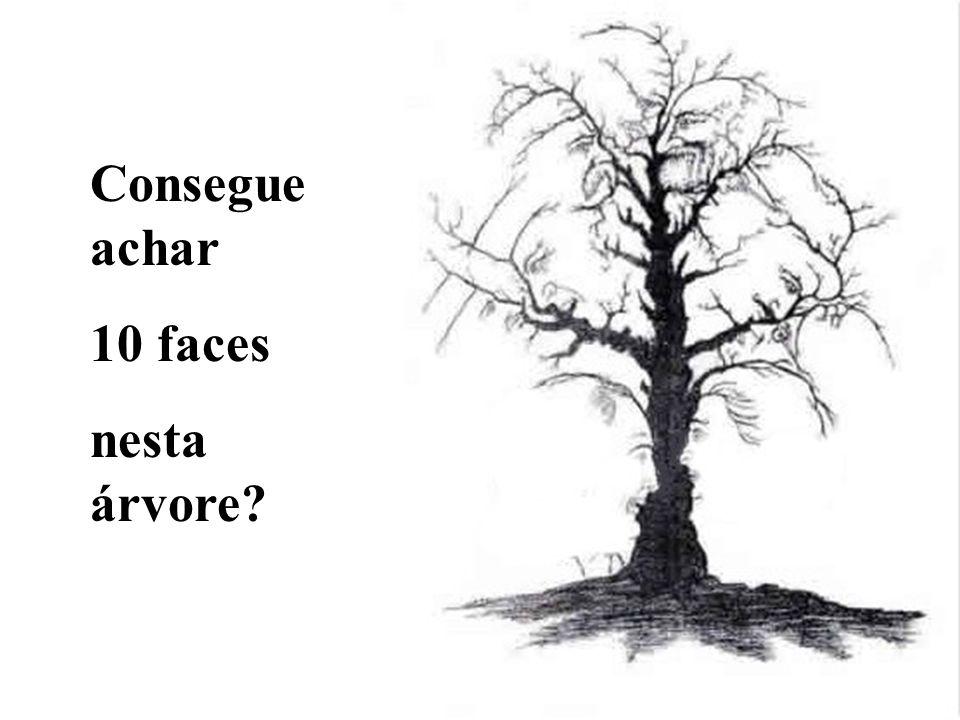Consegue achar 10 faces nesta árvore