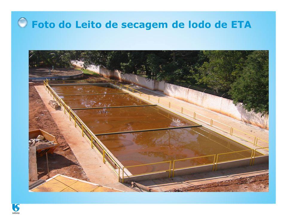 Foto do Leito de secagem de lodo de ETA