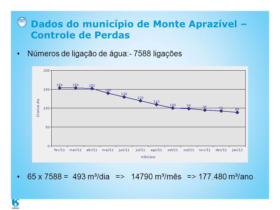 Dados do município de Monte Aprazível – Controle de Perdas