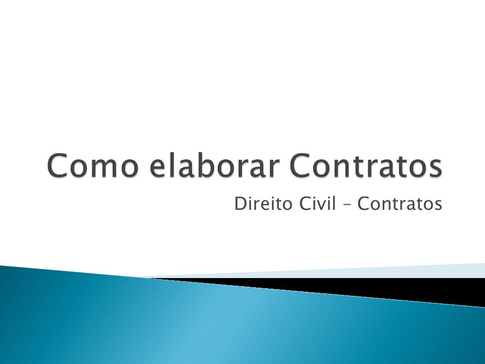 Como elaborar Contratos