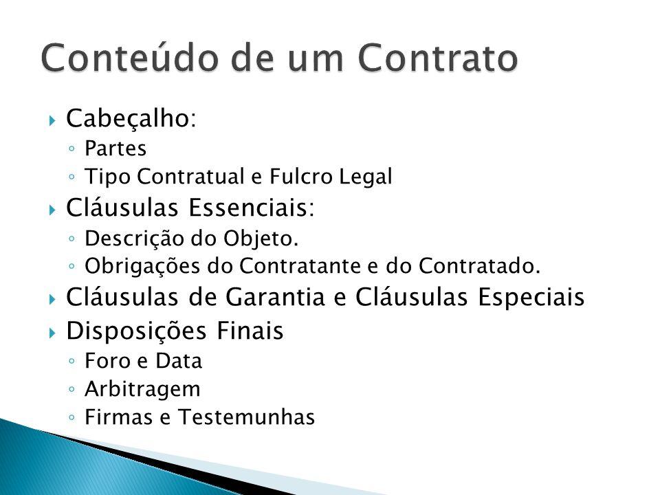 Conteúdo de um Contrato