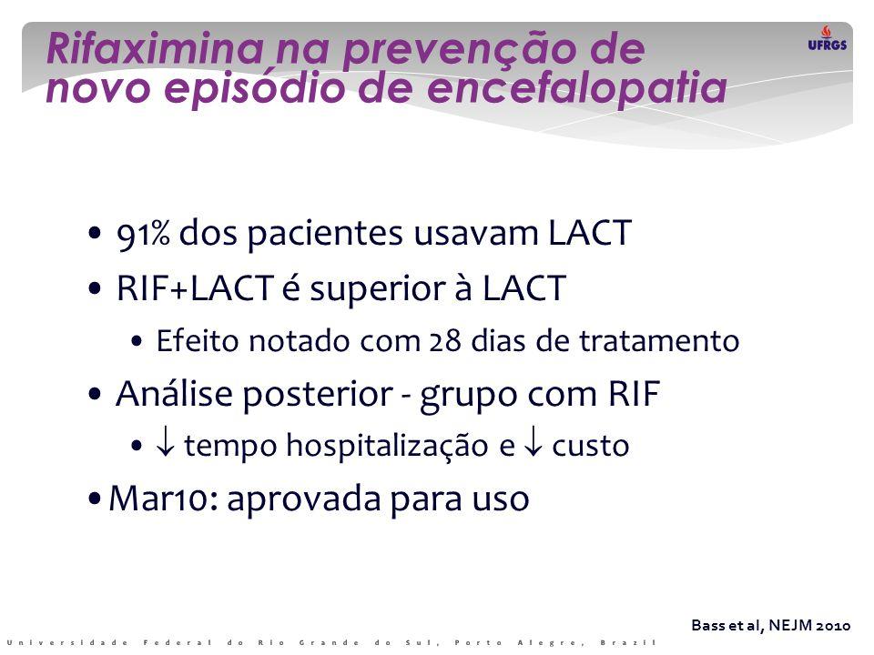 Rifaximina na prevenção de novo episódio de encefalopatia