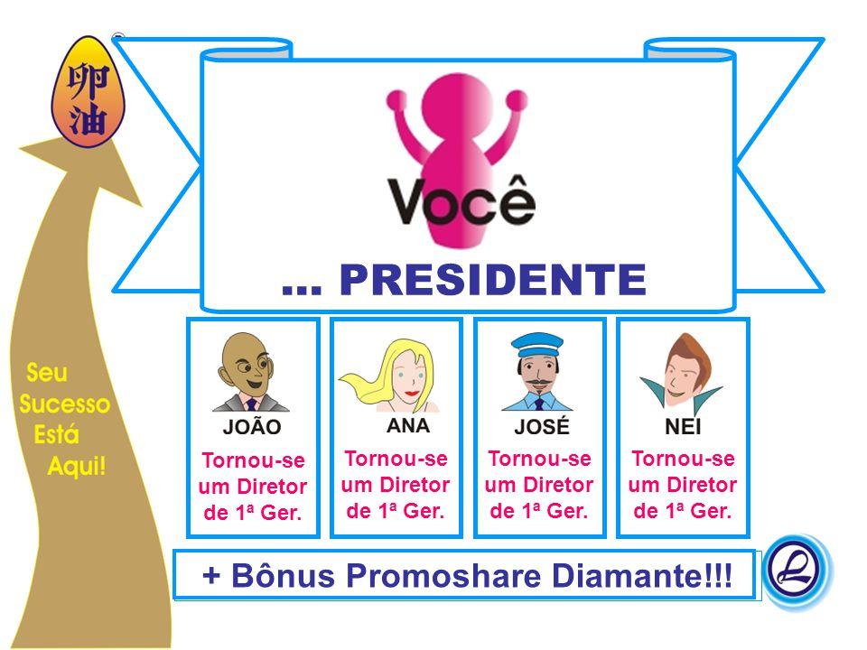 ... PRESIDENTE + Bônus Promoshare Diamante!!!