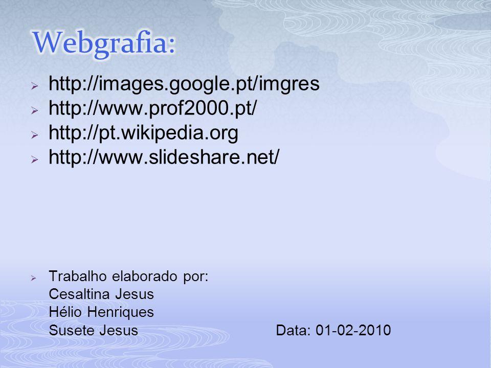 Webgrafia: http://images.google.pt/imgres http://www.prof2000.pt/
