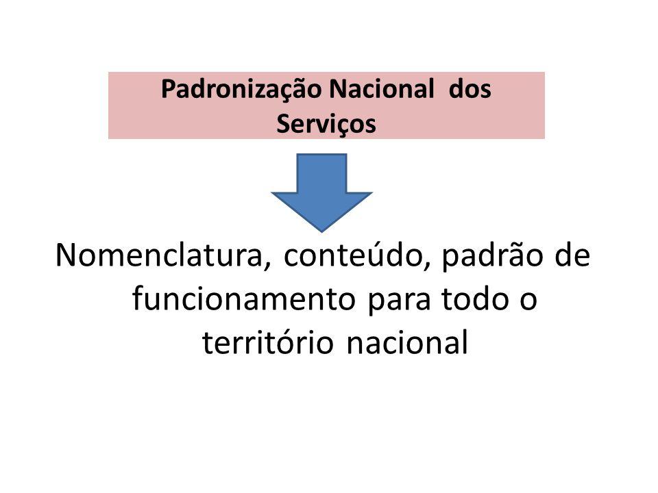 Padronização Nacional dos Serviços