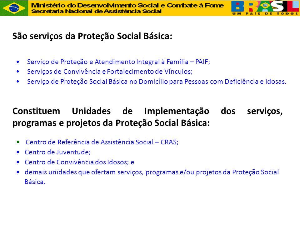 São serviços da Proteção Social Básica: