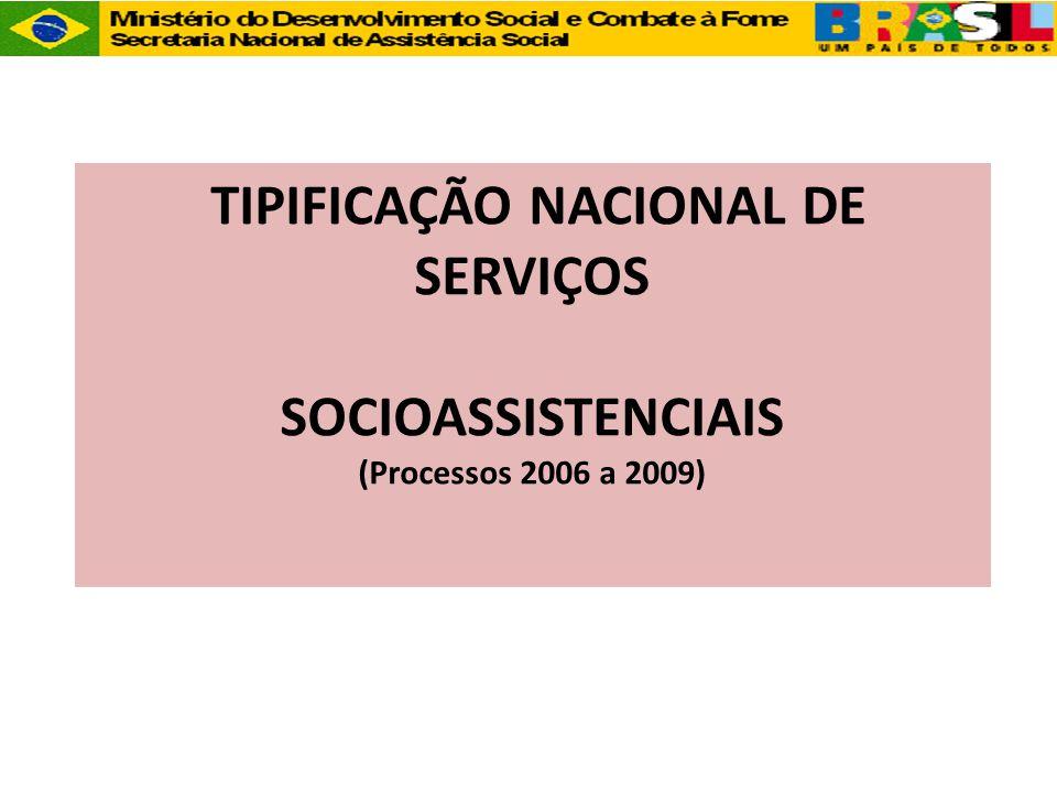 TIPIFICAÇÃO NACIONAL DE SERVIÇOS