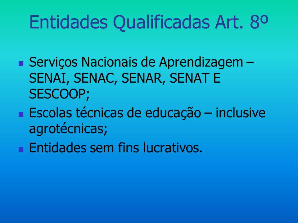 Entidades Qualificadas Art. 8º