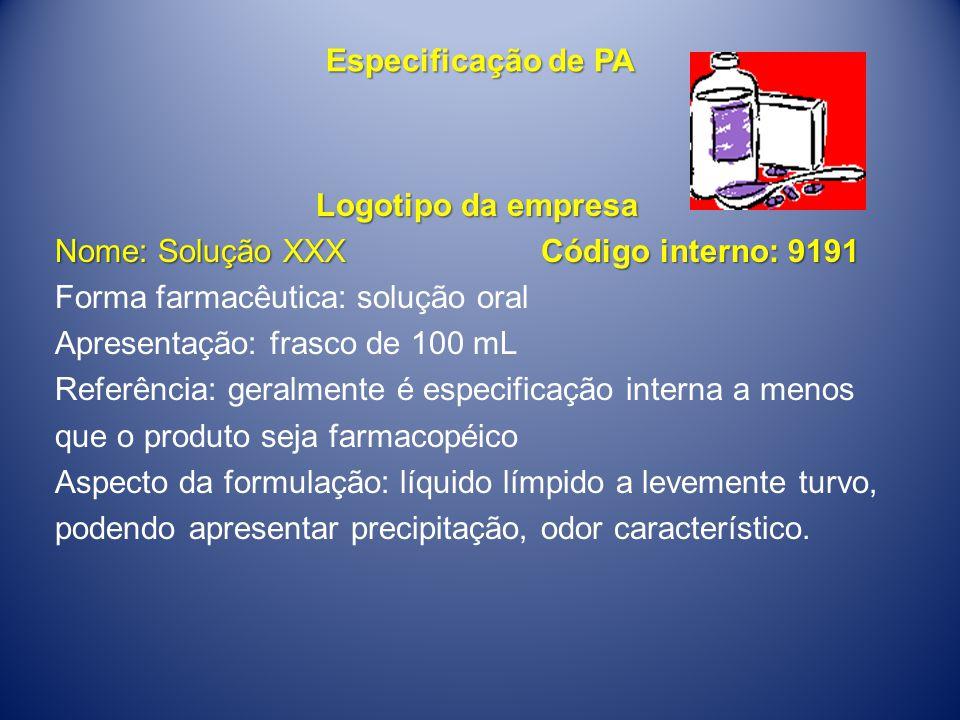 Especificação de PA