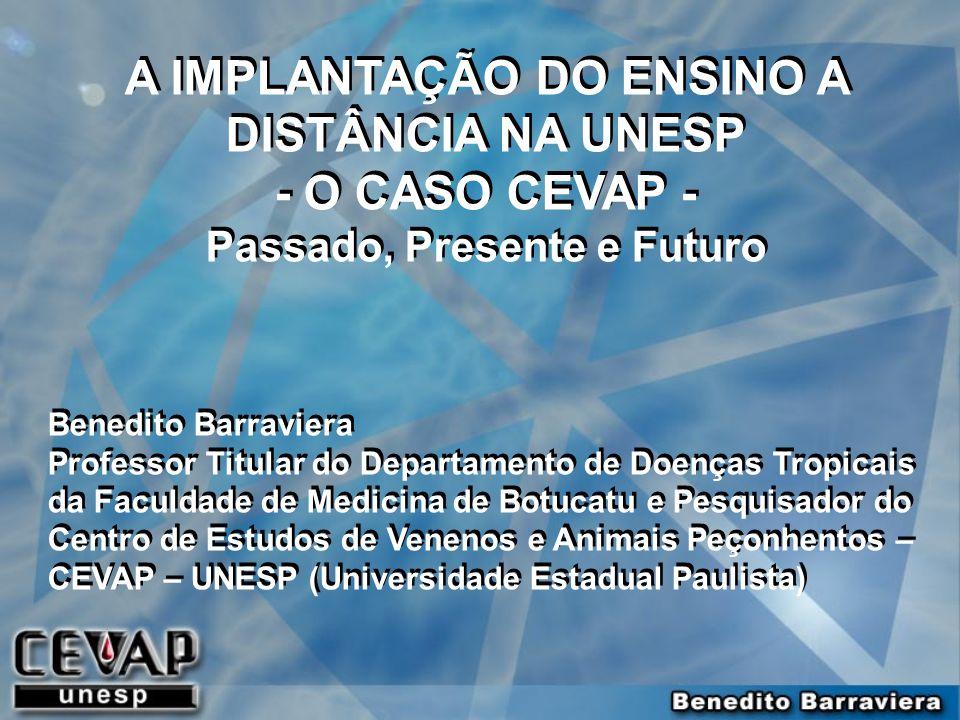 A IMPLANTAÇÃO DO ENSINO A DISTÂNCIA NA UNESP - O CASO CEVAP -