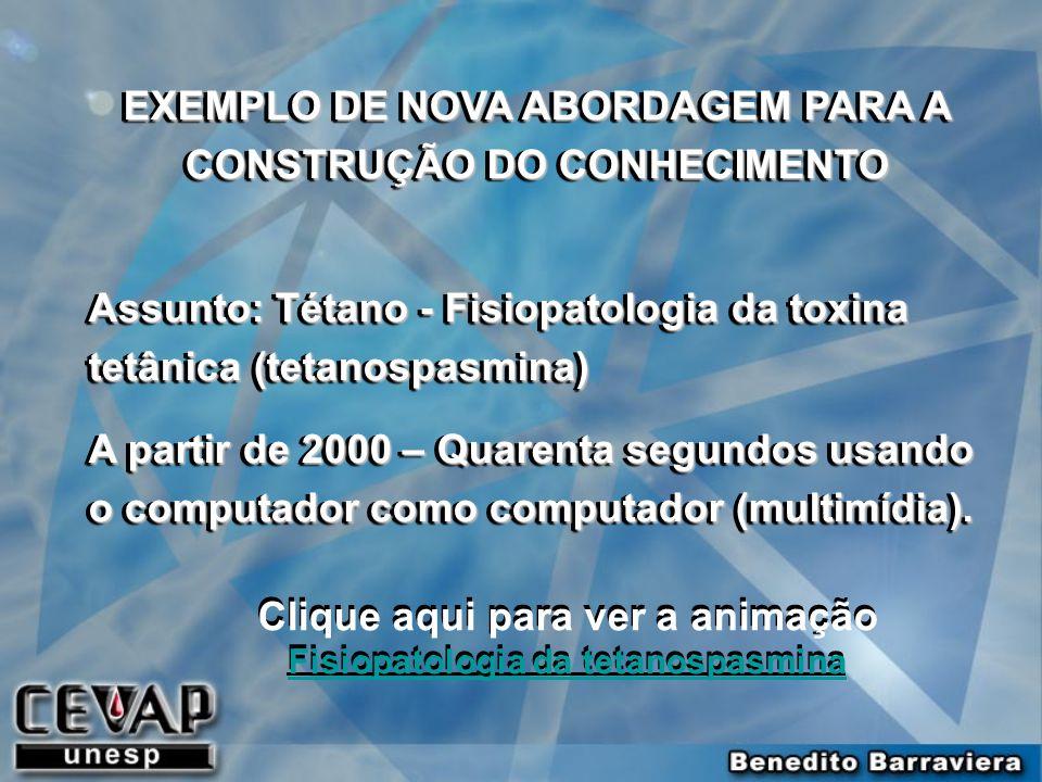 EXEMPLO DE NOVA ABORDAGEM PARA A CONSTRUÇÃO DO CONHECIMENTO