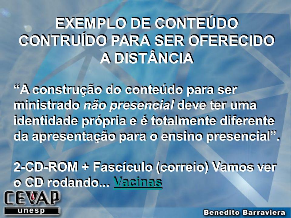 EXEMPLO DE CONTEÚDO CONTRUÍDO PARA SER OFERECIDO A DISTÂNCIA