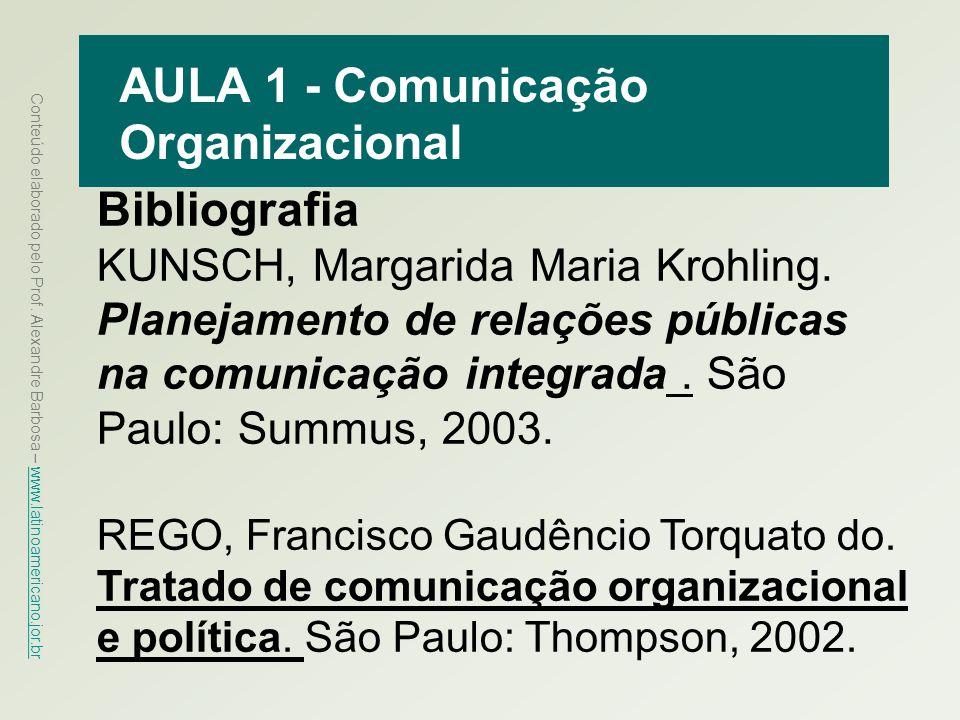 AULA 1 - Comunicação Organizacional