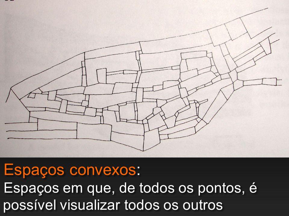 Espaços convexos: Espaços em que, de todos os pontos, é possível visualizar todos os outros pontos.