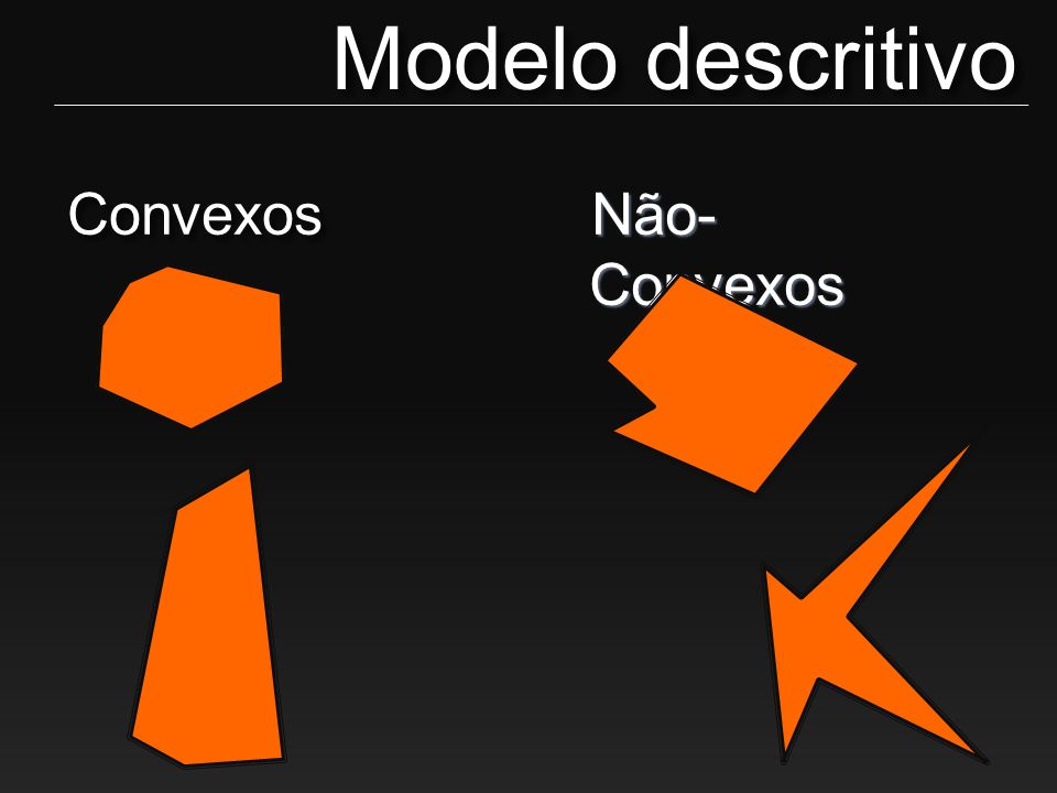 Modelo descritivo Convexos Não-Convexos