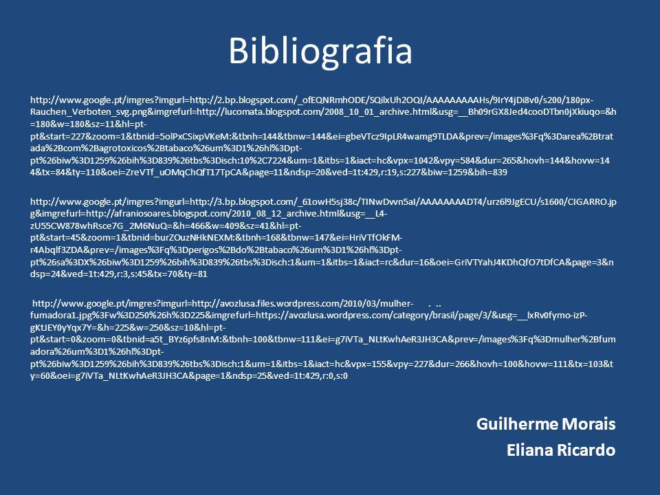 Bibliografia Guilherme Morais Eliana Ricardo