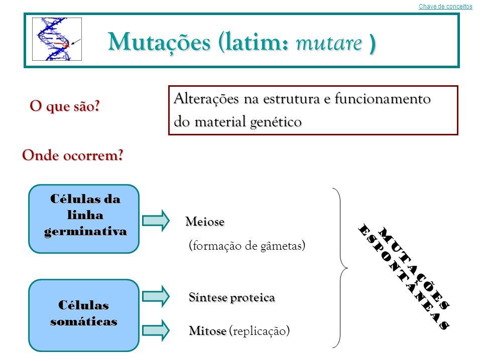 Mutações (latim: mutare )